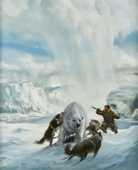 Polar Bear and Arctic Hunters