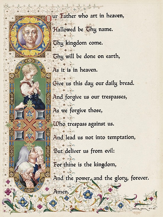 The Lord's Prayer, Illustration for Coronet Magazine, 1945
