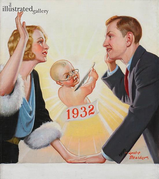 New Years Baby, Liberty Magazine Cover