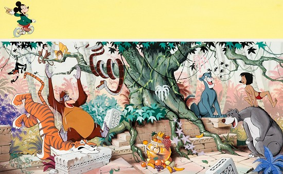 """Disneyland Magazine #9 Wrap-Around Cover Painting """"Jungle Book"""""""