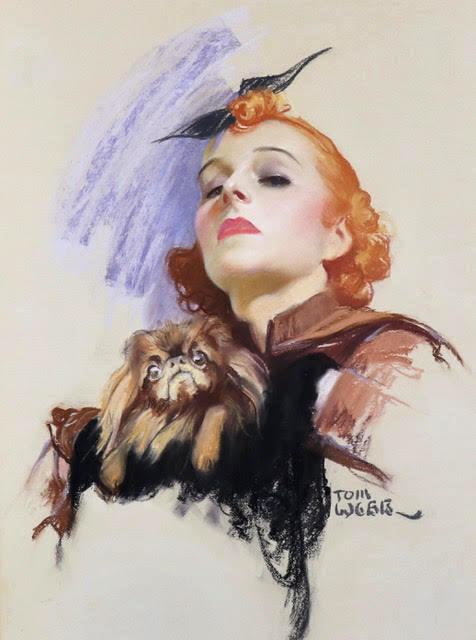 Woman with Dog, Saturday Evening Post Cover, March 1937