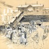 Ninth Street Station on the Third Avenue El, NYC Scene by Henry Tidmarsh