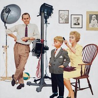 Child at Photographer, Saturday Evening Post Cover, Sep. 26, 1959