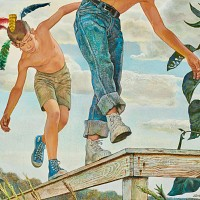 Boys on a Fence, Preliminary Work for Johnson & Johnson Ad
