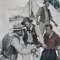 """The Rustlers of Silver River,"" Story Illustration for Country Gentleman"