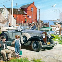 Pier Scene, Great Moments in Early American Motoring