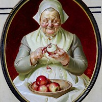 Peeling Apples, Thanksgiving Saturday Evening Post Cover, 1925