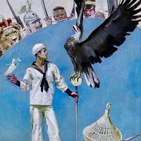 Sailor with Eagle and Dove, Life Magazine Cover