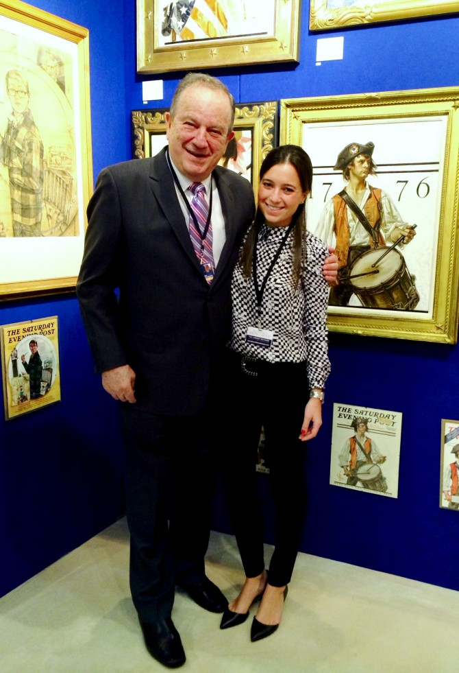 Holly & Jordan Berman at the Palm Beach Art Show, 2014