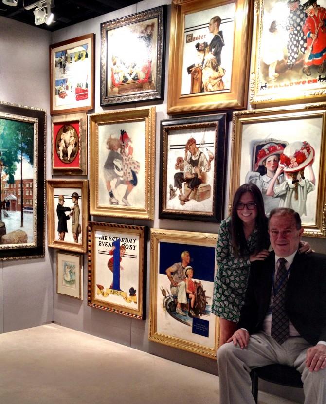 Holly Berman & Jordan Berman at the Palm Beach Art Show in 2013