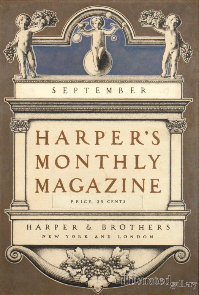 3-25, Harper's Monthly Magazine Cover 1900, Maxfield Parrish (1870-1966)